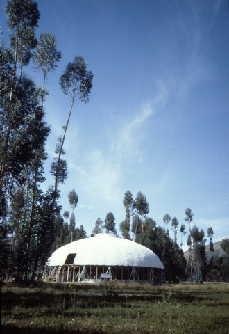 The dome in Jauja under construction