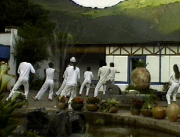 Tai Chi classes in the courtyard