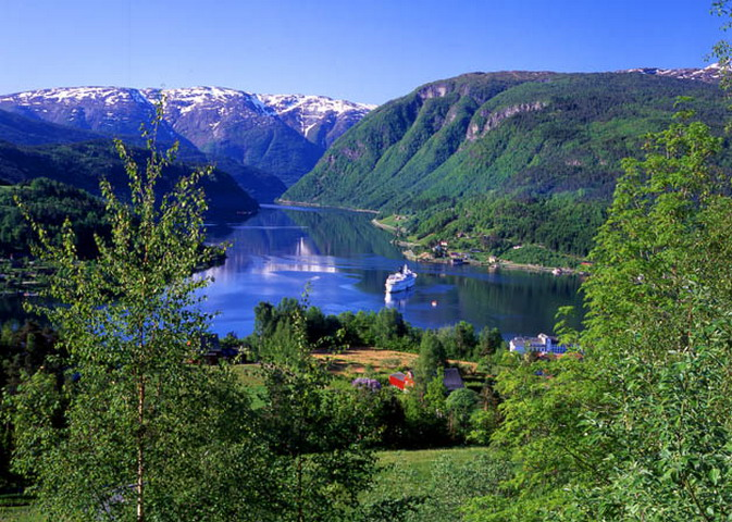 View of the Ulvik fjord