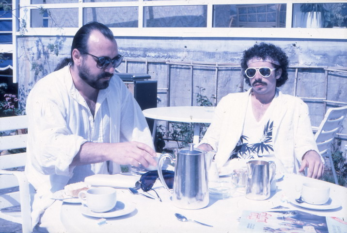 Peter Maron and Marc Ardin at breakfast